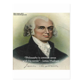Carte Postale Bon sens de James Madison citation de