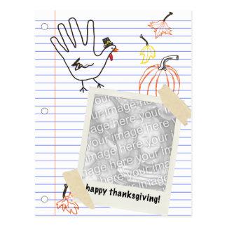 Carte Postale bon thanksgiving ! croquis de carnet