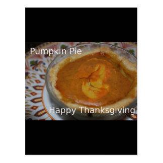 Carte Postale Bon thanksgiving et tarte de citrouille
