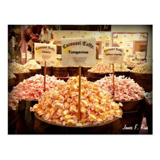 Carte Postale Bonbon au caramel à carrousel