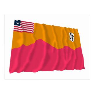 Carte Postale Bong le drapeau de ondulation du comté