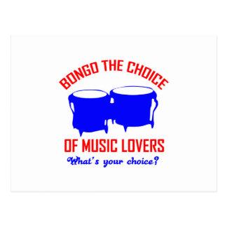 Carte Postale bongo le choix des mélomanes