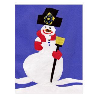 Carte Postale Bonhomme de neige par VictoriaShaylee