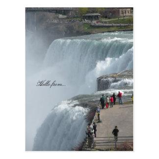 Carte Postale Bonjour de… Chutes du Niagara Canada ny