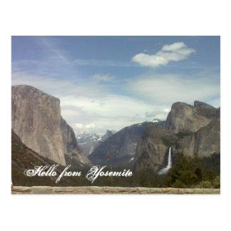 Carte Postale Bonjour de Yosemite