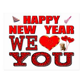 Carte Postale Bonne année nous vous aimons