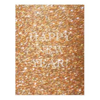Carte Postale Bonne année ! Partie de cuivre de charme de