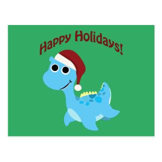 Carte Postale Bonnes fêtes ! Nessie mignon