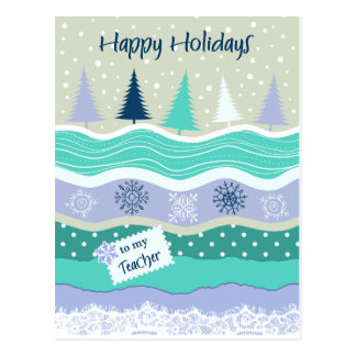 Carte Postale Bonnes fêtes pour des flocons de neige