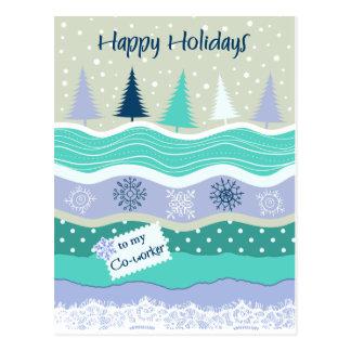 Carte Postale Bonnes fêtes pour des flocons de neige Scrapbookg