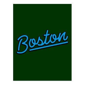 Carte Postale Boston dans cyan
