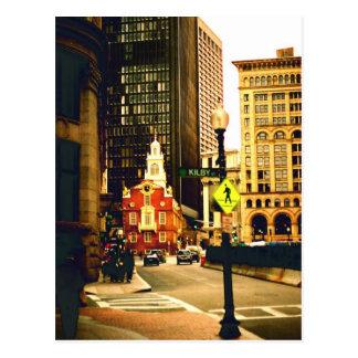 Carte Postale Boston du centre sur la rue de Kilby