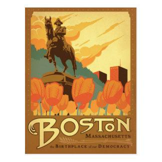 Carte Postale Boston, mA - le lieu de naissance de notre