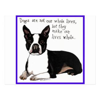 Carte Postale Boston Terrier