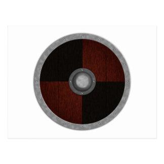 Carte Postale Bouclier de cercle de Viking