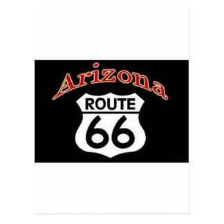 Carte Postale Bouclier de l'itinéraire 66 de l'Arizona