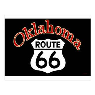 Carte Postale Bouclier de l'itinéraire 66 de l'Oklahoma