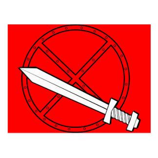 Carte Postale Bouclier médiéval avec l'épée