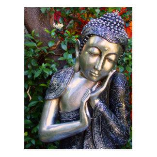 Carte postale | Bouddha argenté