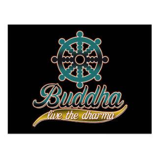 Carte Postale Bouddha vivent le Dharma