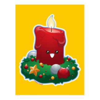 Carte Postale Bougie de Noël