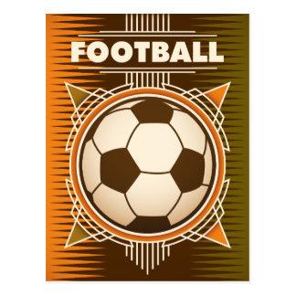 Carte Postale Boule de sport du football du football