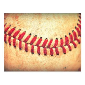 Carte Postale Boule vintage de base-ball