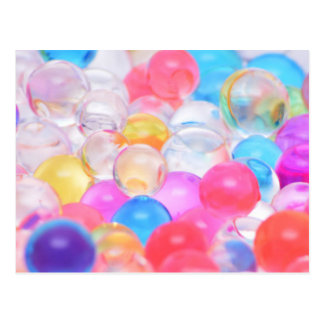 Carte Postale boules transparentes