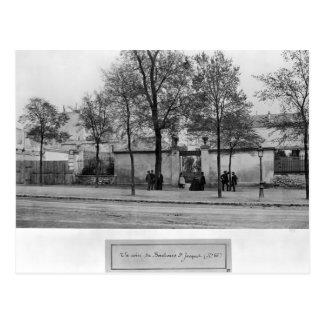 Carte Postale Boulevard Saint-Jacques