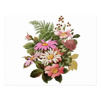 Carte Postale bouquet de fleur