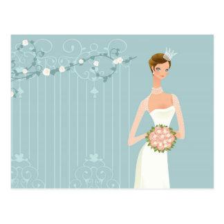 Carte Postale Bouquet nuptiale de douche