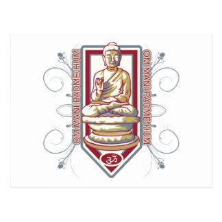 Carte Postale Bourdonnement de Bouddha OM Mani Padma