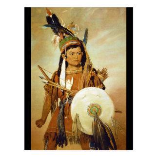 Carte Postale Boy', indien George Catlin_Art de l'Amérique