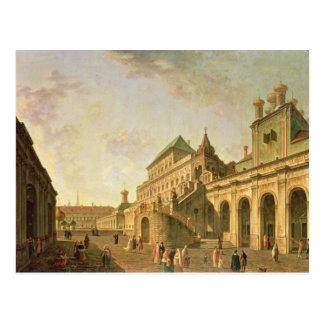 Carte Postale Boyar rectifié à Moscou Kremlin, 1801