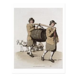 """Carte Postale Brasseurs, de """"costume de la Grande-Bretagne"""""""