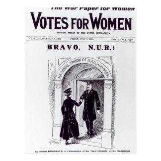 Carte Postale Bravo, N.U.R ! , couverture des 'votes pour