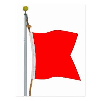 Carte Postale Bravo portant le drapeau de signal dangereux de