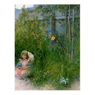 Carte Postale Brita dans le lit de fleur c1897