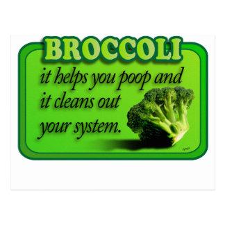 Carte Postale brocoli