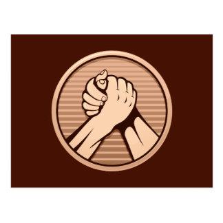 Carte Postale Bronze de bras de fer