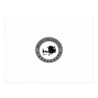 Carte Postale bruce le logo noir et blanc de buffle