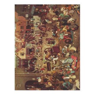 Carte Postale Bruegel D. ?. , Le der de Pieter Serie sogenannten
