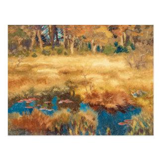 Carte Postale Bruno Liljefors - paysage d'automne avec le Fox