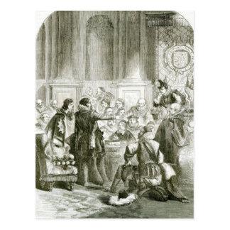 Carte Postale Buckingham devant le Conseil