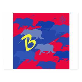 Carte Postale buffle
