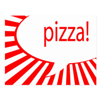 Carte Postale bulle parlante comique de pizza