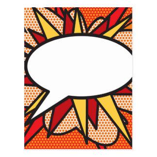 Carte Postale Bulle personnalisée de la parole d'art de bruit de