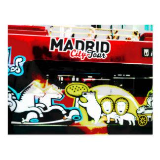 Carte Postale Bus touristique de Madrid (Espagne)