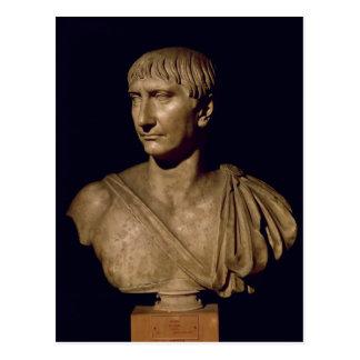 Carte Postale Buste de portrait d'empereur Trajan