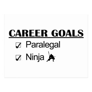 Carte Postale Buts de carrière de Ninja - paralégal
